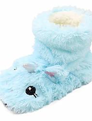 cheap -girls cute unicorn booties slippers socks winter warm plush fleece slip-on ankle booties indoor blue,12-13 m us little kid