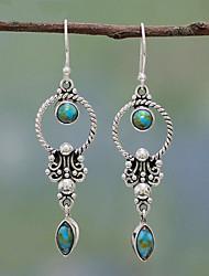 cheap -Women's Drop Earrings Earrings Dangle Earrings Fashion Vintage European Resin Earrings Jewelry Silver For 1 Pair