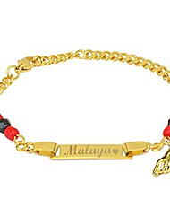 """cheap -tina's jewelry custom any name gold plated simulated azabache evil eye protection children bracelet 6"""""""