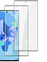 cheap -galaxy note 10 plus screen protector, [2 pack] [9h hardness] [support fingerprint sensor] [scratchproof] [no bubbles] hd tempered glass screen protector for samsung galaxy note 10 plus
