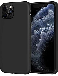 cheap -silicone case for iphone 11 pro max, 6.5-inch, shock absorption pc cover with microfiber lining, silky soft touch, black