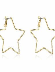 cheap -star hoop earrings 14k gold plated lightweight huggie earrings drop dangle earrings