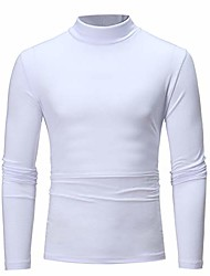 cheap -men's sweatshirts, f_gotal mens casual long sleeve solid color turtleneck sports outwear hooded sweatshirts white
