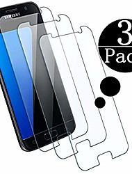 cheap -compatible samsung galaxy s7 tempered glass screen protector,[3 - pack][9h hardness][bubble free] tempered glass screen protector compatible galaxy s7