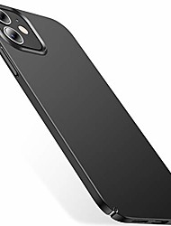 cheap -slim fit compatible with iphone 12 case, designed for iphone 12 pro case 6.1 inch 5g (2020), [ultra thin] silky soft touch hard pc matte finish grip protective phone cover- graphite black