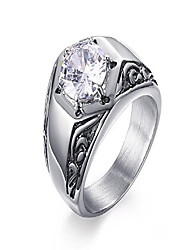 cheap -15mm mens stainless steel round cz band ring for wedding engagement promise,size 8