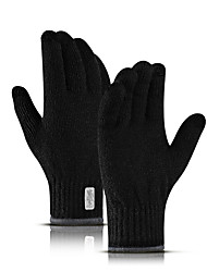 cheap -Winter Gloves Running Gloves Full Finger Gloves Touch Screen Thermal Warm Casual Outdoor Women's Men's Knit Skiing Hiking Running Driving Cycling Winter