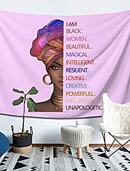 "cheap -i am black women african american tapestry afro girl wall art wall hanging tapestries for living room bedroom dorm decor (59""x78"")"