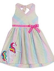 cheap -girls size 2t-6x rainbow unicorn seersucker halter dress (6x)
