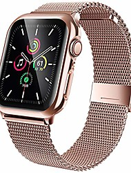 cheap -stainless steel bands compatible with apple watch band 40mm, screen protector for iwatch series 5/4, adjustable metal magnetic strap sport bracelet loop women/men (pink gold)