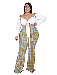 cheap -Women's Print Daily Wear Two Piece Set T-shirt Pant Lace up Print Tops