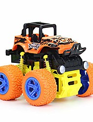 cheap -toy cars for kids 1 - 5 years old boys girls monster trucks push & go car toy durable big wheels 360 rotating stunt toy vehicle (orange)