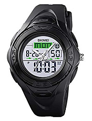 cheap -super cool outdoor sports led digital watch s shock men military army watch 164ft 50m water resistant (red)