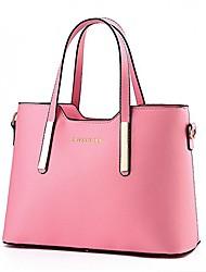cheap -jzoeoeu women's pu leather shoulder bags top-handle handbag tote bag simple purse fashion cross body bag,pink