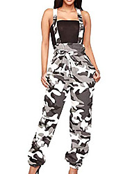 cheap -womens camo rompers adjustable strap high waisted camouflage jumpsuit
