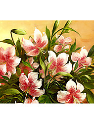 cheap -Floral Oil Painting On Canvas Abstract Contemporary Art Wall Paintings Handmade Painting Home Office Decorations Canvas Wall Art Painting