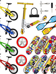 cheap -25 pcs Finger skateboards Mini fingerboards Finger bikes Finger Toys Plastics Alloy Office Desk Toys with Replacement Wheels and Tools Party Favors Kid's Adults All Party Favors  for Kid's Gifts