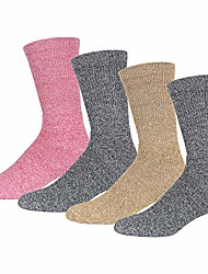 cheap -merino wool socks, warm crew thermal socks for winter, womens extreme cold weather socks (10-13, light assorted) - 4 pairs