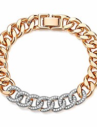 cheap -stainless steel 18k gold plated thick classic miami cuban link chain curb wrist bracelets with cz diamond