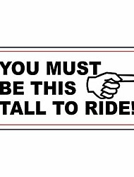 cheap -warning sign you must be this tall to ride road sign business sign 12x16 inches aluminum metal tin sign
