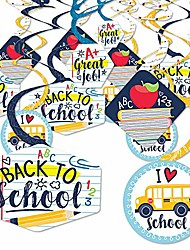 cheap -back to school - first day of school classroom hanging decor - party decoration swirls - set of 40