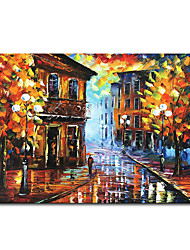 cheap -Mintura Large Size Hand Painted Abstract Knife Landscape Oil Painting on Canvas Modern Wall Art Picture For Home Decoration No Framed