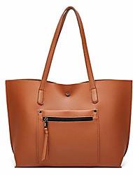 cheap -women big capacity handbag fashiontote bags top handle satchel handbags pu leather tassel shoulder purse