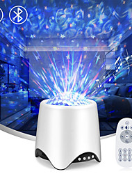 cheap -Star Projector Night Light Bluetooth Music Speaker 14 Lighting Model Adjustable Lightness with Remote Control Starry Ocean Wave Projector for Kids Bedroom Birthday Party Gifts Decor