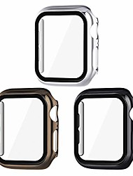 cheap -Case  For iWatch Apple Watch Series SE / 6/5/4/3/2/1  44 mm 40 mm 38 mm 42mm  overall protective cover tempered glass screen protector hard pc case compatible with iwatch (3-pack)