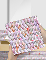 cheap -Imitation Epoxy Tile Sticker Pink Purple Jade Mosaic Wall Sticker House Renovation DIY Self-adhesive PVC Wallpaper Painting Kitchen Waterproof and Oilproof Wall Sticker