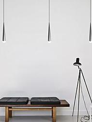 cheap -1-Light 6CM(2.4 INCH) LED Pendant Light Metal Cone Chrome Modern Contemporary 90-240V