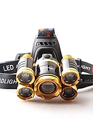 cheap -outdoor led induction headlights camping riding walk fishing range far head-mounted flashlight 9000w light adjustable usb smart fast charge huang guang, blu-ray (color : huang guang)