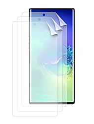 cheap -screen protector, 3pack hd screen protector compatible with galaxy note 10, soft hydrogel transparent screen protection film for galaxy note 10 6.3inch