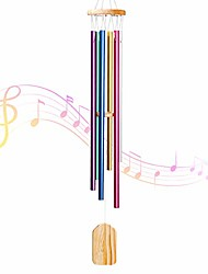 cheap -wind chimes outdoor, with 6 colors aluminum tubes wooden wind bell memorial wind chimes, best gift chimes decor for garden patio outdoor