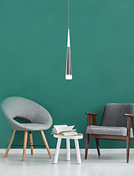 "cheap -1-Light 5.5(2.2"") LED Pendant Light Metal Acrylic Cone Electroplated Modern Contemporary 90-240V"
