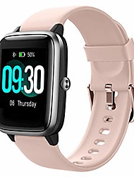 cheap -smart watch for android phones compatible iphone samsung, watches for men women ip68 waterproof smartwatch fitness tracker fitness watch heart rate monitor sleep tracker watch (pink/black)