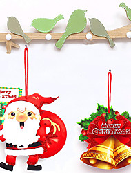 cheap -Christmas Toys Christmas Decorations Wall Decals Santa Claus Reindeer Merry Christmas Party Favor For Living Room Bedroom PVC Paper 14 pcs Kid's Adults 16*17.5cm Christmas Party Favors Supplies