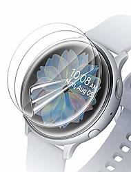 cheap -zeking [3-pack]samsung galaxy watch active 2 (40mm) smartwatch screen protector, [full coverage] hd clear [anti scratch] bubble-free flexible tpu film