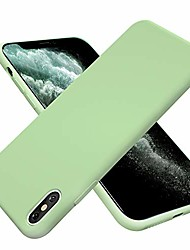 cheap -for iphone x case, [silicone soft touch series] premium soft silicone rubber full-body protective bumper case compatible with apple iphone x/xs 5.8 inch -tea green