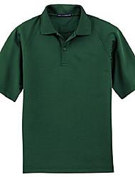 cheap -men's tall dry zone ottoman polo 3xlt dark green