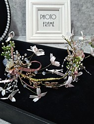 cheap -Headpieces Wedding Basketwork / Beads / Alloy Tiaras / Headbands / Headpiece with Rhinestone / Bowknot / Faux Pearl 1 Piece Wedding / Party / Evening Headpiece