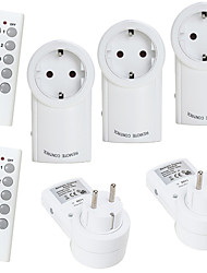 cheap -EU-2TX5RX Smart Plug Remote Control Wireless Socket  Appliance Switch With Remote EU Standard 5 Socket 2 Remote