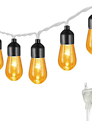 cheap -5M 20LED Retro Bulb Acrylic Bulb Light String Garden Light  Christmas  Party Decoration Light Wedding Fairytale World 8-Mode Controller Can be Connected in Series New Design Romantic 220V 1 set