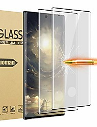 cheap -glass screen protector for samsung galaxy note 10, 2 pieces tempered glass 3d full coverage support fingerprint sensor hd clear screen protector for note 10 (note 10 5g, 6.3 inch)