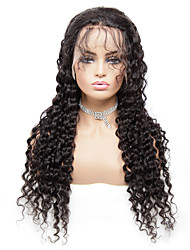 cheap -13*6 Lace Wig Deep Wave Wig Brazilian Hair Lace Closure Wig 100% Remy Human Hair Wigs For Black Women 8-26 Inch