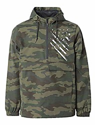 cheap -anorak camouflage jackets - three panel hood blizzard neck water resistant elastic cuffs 100% nylon metal zipper- for hunting military army outdoor travel all season-camo(xx-large)