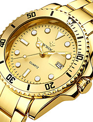 cheap -WWOOR Men's Steel Band Watches Analog Quartz Formal Style Classic Water Resistant / Waterproof Calendar / date / day / One Year / Stainless Steel / Japanese