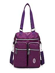 cheap -waterproof nylon travel bags cross body shoulder bags for shopping handbag tote handbag for working with casual multi pockets (purple)