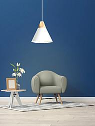 cheap -22 cm Single Design Pendant Light Metal Wood / Bamboo Country 110-120V 220-240V