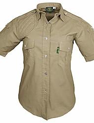 cheap -shooter shirt for women short sleeve, 100% cotton for hunters outdoor activities